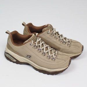 Skechers Premium Sport walking shoe tan hiking